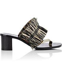Alvaro - Alberta Alta Raffia & Leather Thong Sandals - Lyst