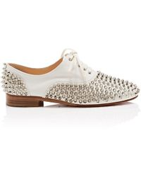 Christian Louboutin - Freddy Spikes Donna Leather Oxfords - Lyst