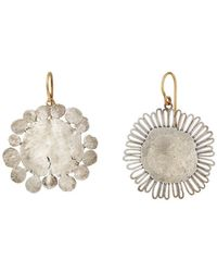 Judy Geib - Mismatched Flower-shaped Earrings - Lyst