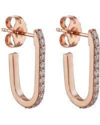 Carbon & Hyde - Mini Pin Hoop Earrings - Lyst