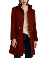 Chloé - Zip-detailed Compact Wool Coat - Lyst