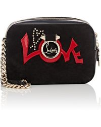 Christian Louboutin - Rubylou Suede & Leather Crossbody Bag - Lyst