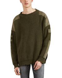 Amiri - Appliquéd Cashmere-wool Oversized Distressed Sweater - Lyst