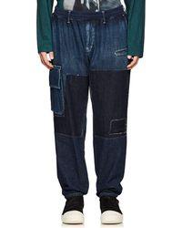 Yohji Yamamoto - Patchwork Denim Cargo Jeans - Lyst