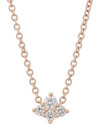 Sara Weinstock - Diamond Cluster Necklace - Lyst