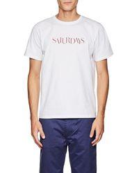 Saturdays NYC - Miller Sans Cotton T-shirt - Lyst