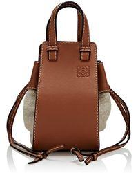 Loewe - Hammock Mini Canvas & Leather Bag - Lyst