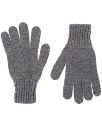 Drake's - Contrast-cuff Wool Gloves - Lyst