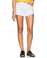 L'Agence - Ryland Denim Cutoff Shorts - Lyst