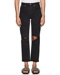 RE/DONE - High-rise Stovepipe Distressed Crop Jeans - Lyst