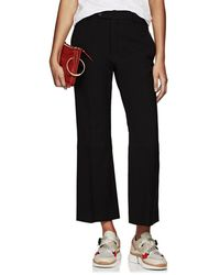 Chloé - Wool Flared Ankle Trousers - Lyst