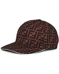 Fendi - Ff Logo Canvas Baseball Hat - Lyst e14291f98b7