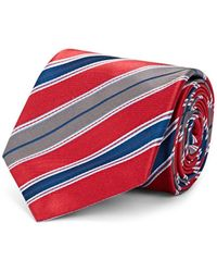 Brioni - Multi-striped Silk Twill Necktie - Lyst