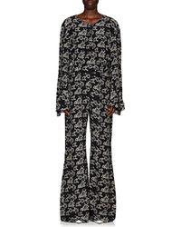 440825969c30 M.i.h Jeans. Harper Denim Jumpsuit.  325. Selfridges · Teija - Floral Silk  Crêpe De Chine Jumpsuit Size 10 - Lyst