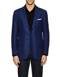 Kiton - Kb Checked Linen-cashmere Two - Lyst