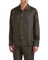 Sleepy Jones - Henry Striped Silk Pajama Top - Lyst