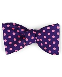 Barneys New York - Polka Dot Silk Faille Bow Tie - Lyst
