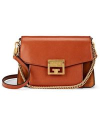 Givenchy - Small Gv3 Leather & Suede Shoulder Bag - Lyst