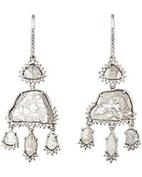 Sharon Khazzam - Grey & White Diamond Triple - Lyst