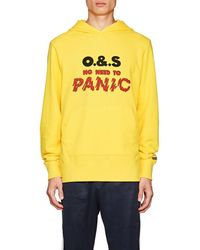 Ovadia And Sons - no Need To Panic Cotton Hoodie - Lyst