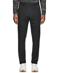 John Varvatos - Pinstriped Crinkled Cotton-wool Trousers - Lyst