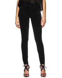 J Brand - Maria Velvet High-rise Skinny Jeans - Lyst