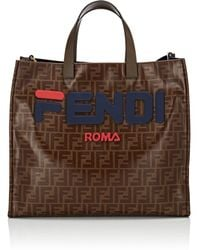 Fendi - Shopping Small Coated Canvas Tote Bag - Lyst