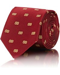 Balenciaga - bb Silk Twill Necktie - Lyst