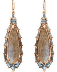 Nak Armstrong - Labradorite & Aquamarine Drop Earrings - Lyst