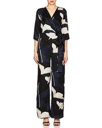 Warm - Floral Silk Jacquard Jumpsuit - Lyst
