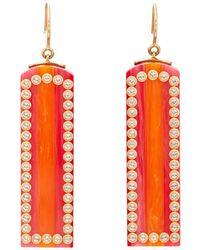 Mark Davis - Bakelite & White Topaz Drop Earrings - Lyst