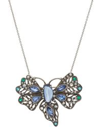 Cathy Waterman - Mixed-gemstone Butterfly Necklace - Lyst