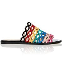 Giannico - Sofia Suede Slide Sandals - Lyst