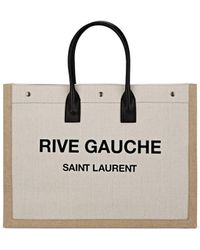 Saint Laurent Noe Linen Canvas Tote Bag