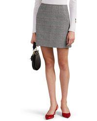 Vivetta - Yeames Metallic Checked Miniskirt - Lyst