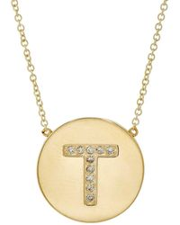 Jennifer Meyer - Initial Pendant Necklace - Lyst