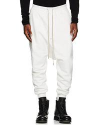 Rick Owens Drkshdw - Prisoner Cotton Fleece Drop-rise Sweatpants - Lyst