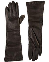 Barneys New York - Leather Long Gloves - Lyst