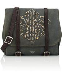Fontana Milano 1915 - Small Suede Messenger Bag - Lyst