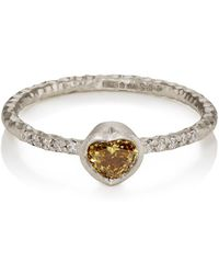 Malcolm Betts - Heart-shaped Yellow Diamond Ring - Lyst