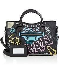 Balenciaga | Graffiti Classic City Medium Arena Leather Bag | Lyst