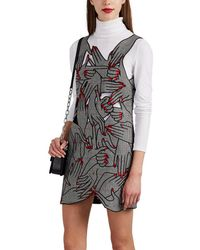 Vivetta - Teniers Embroidered-hand Checked Minidress - Lyst