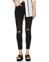 Rag & Bone - High Rise Ankle Skinny Distressed Jeans - Lyst