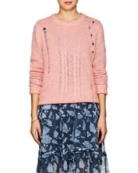 Raquel Allegra - Distressed Cable-knit Wool - Lyst