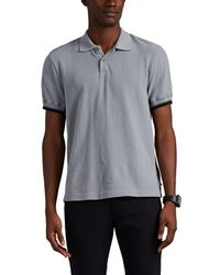 James Perse - Contrast-tipped Cotton Piqué Polo Shirt - Lyst