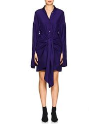 Ji Oh - Silk Wrap Dress - Lyst