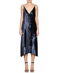 Savoir velvet printed maxi dress