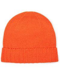 1c3b9b4d639 Barneys New York Rib-knit Wool Beanie in Orange for Men - Lyst