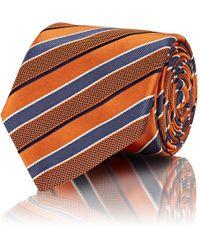 Brioni - Striped Silk Repp Necktie - Lyst