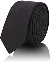 Saint Laurent - Striped Jacquard Silk Necktie - Lyst